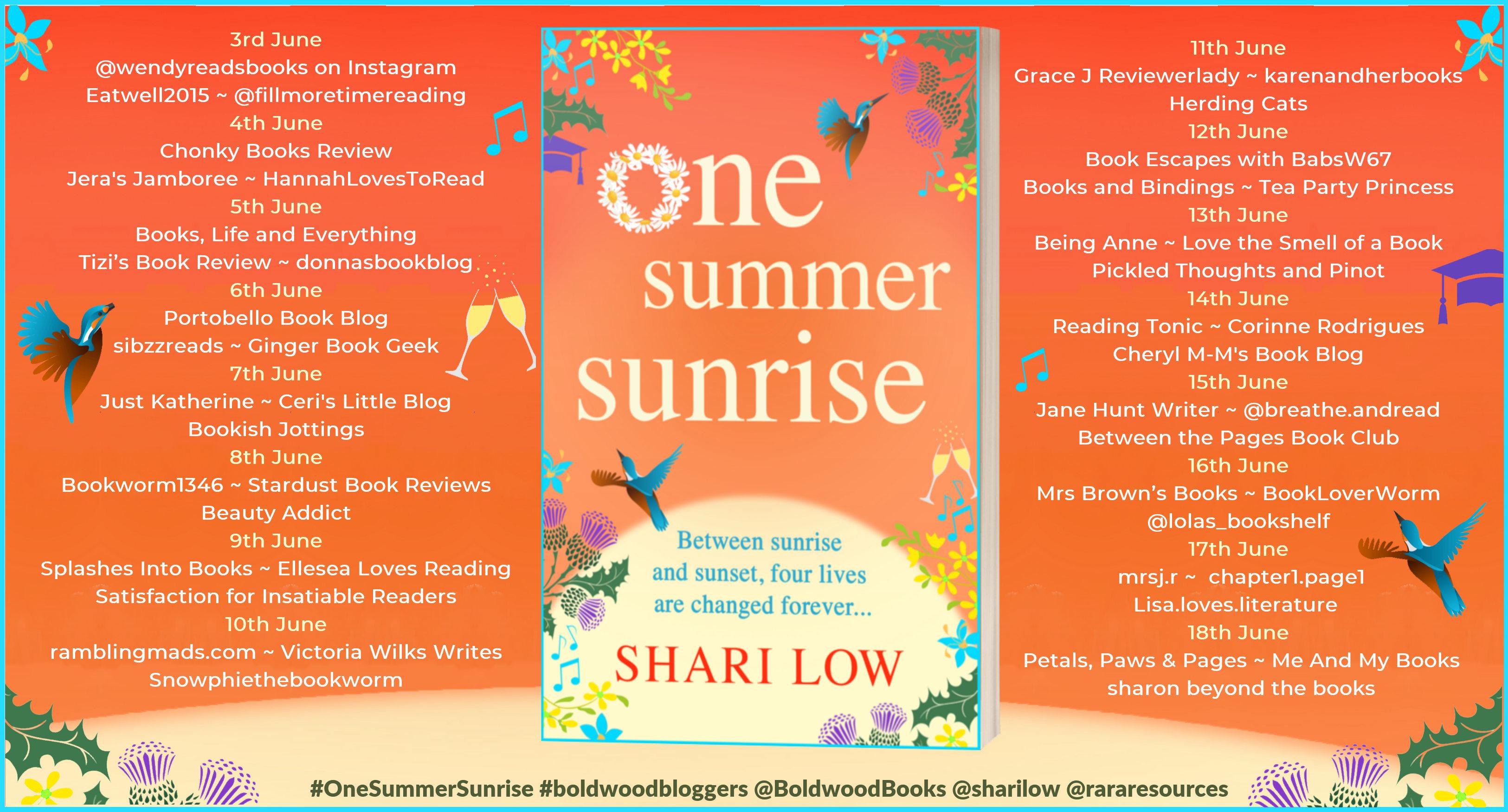 One Summer Sunrise Full Tour Banner